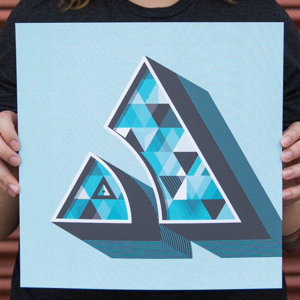"""A"" Poster by Mackey Saturday for The Typefight"