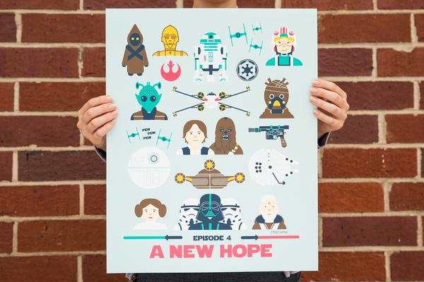 Star Wars a New Hope Poster by Emily Dumas