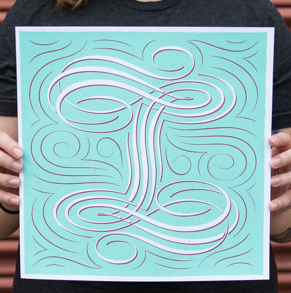 """I"" Poster by Ryan Hamrick for The Typefight"