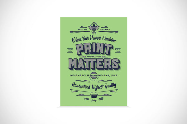 #PrintMatters Event Poster - Indianapolis, IN
