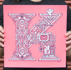 """K"" Poster by Erik Marinovich for The Typefight"