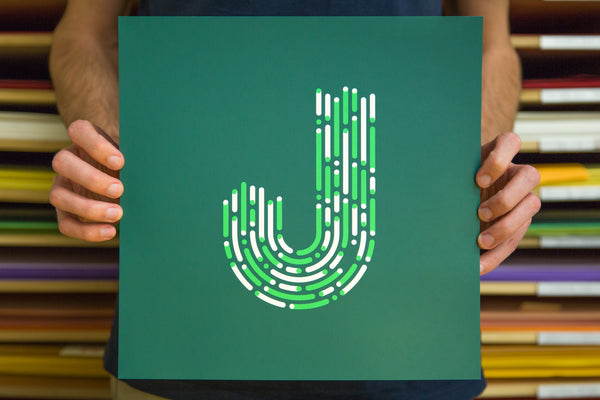 """J"" Poster by Mark Weaver for The Typefight"