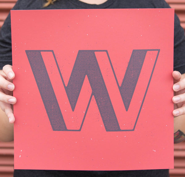 """W"" Poster by Doublenaut for The Typefight"
