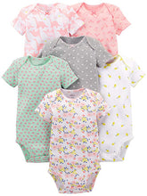 Load image into Gallery viewer, Simple Joys by Carter's Baby Girls' 6-Pack Short-Sleeve Bodysuit