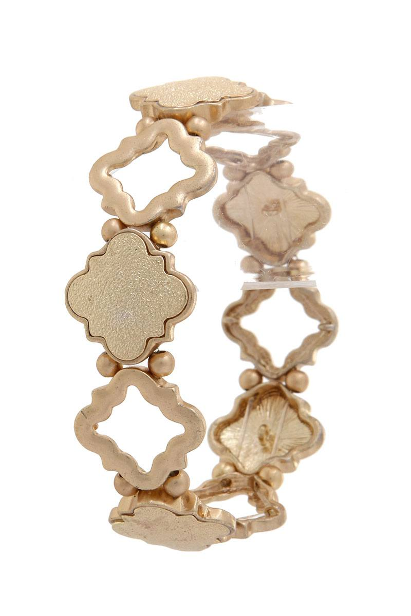 Quatrefoil Shape Stretch Bracelet