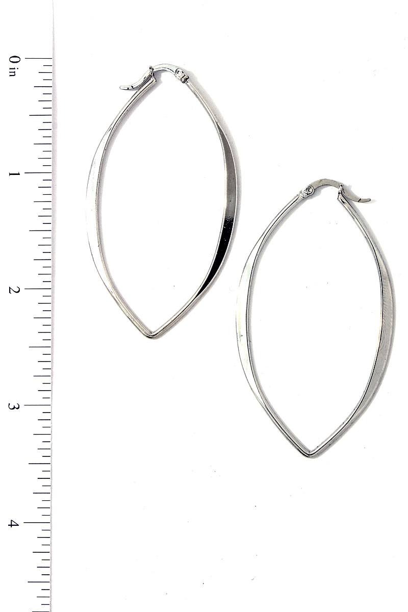 Modern Trendy Bent Hoop Earring