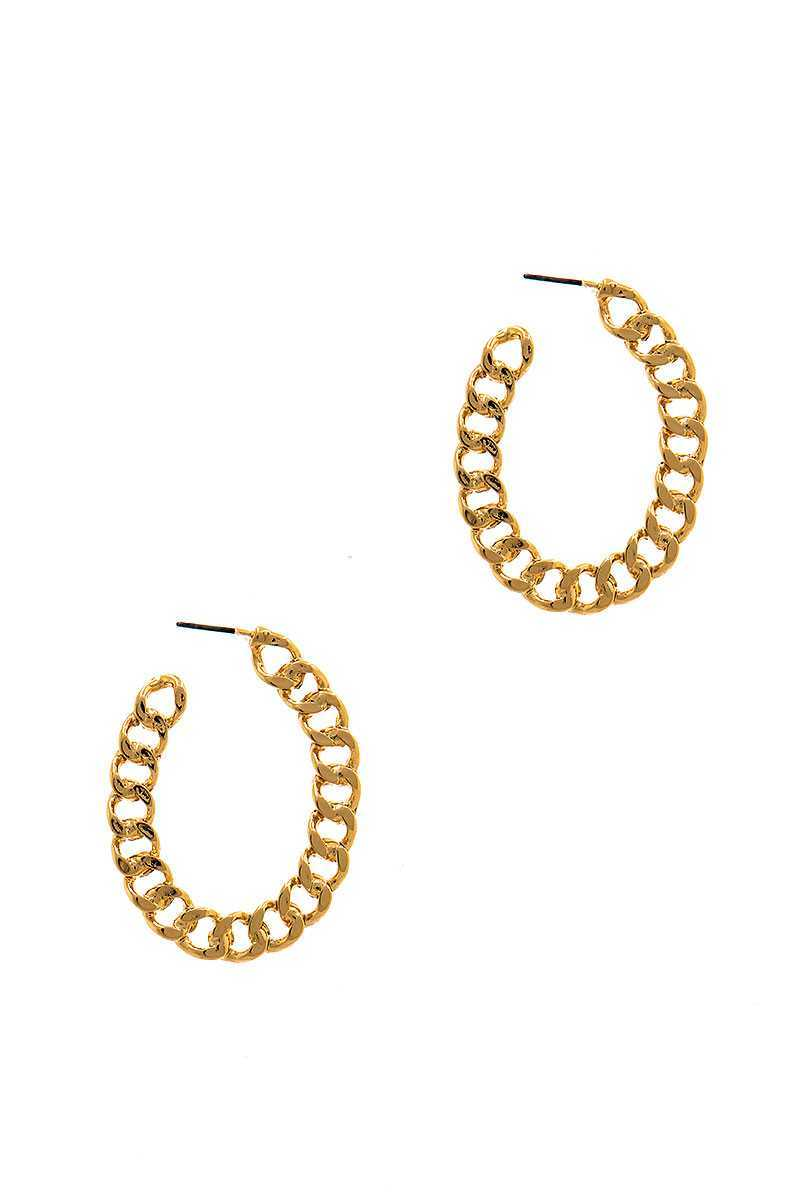 Modern Fashion Open Chain Hoop Earring