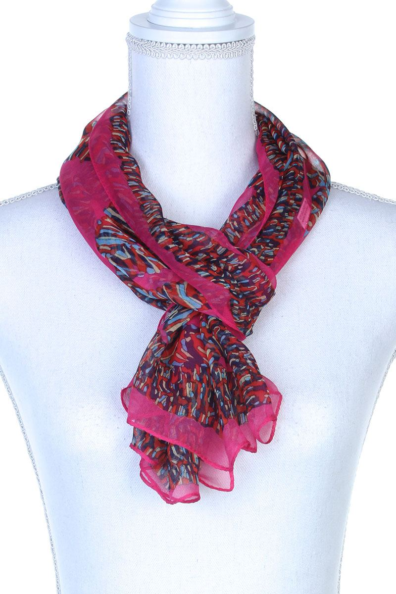 Colorful Pattern Oblong Scarf