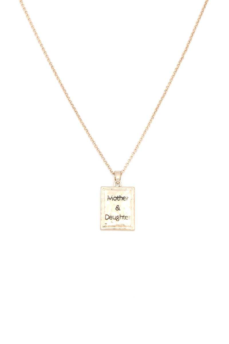 Mother Daughter Pendant Necklace