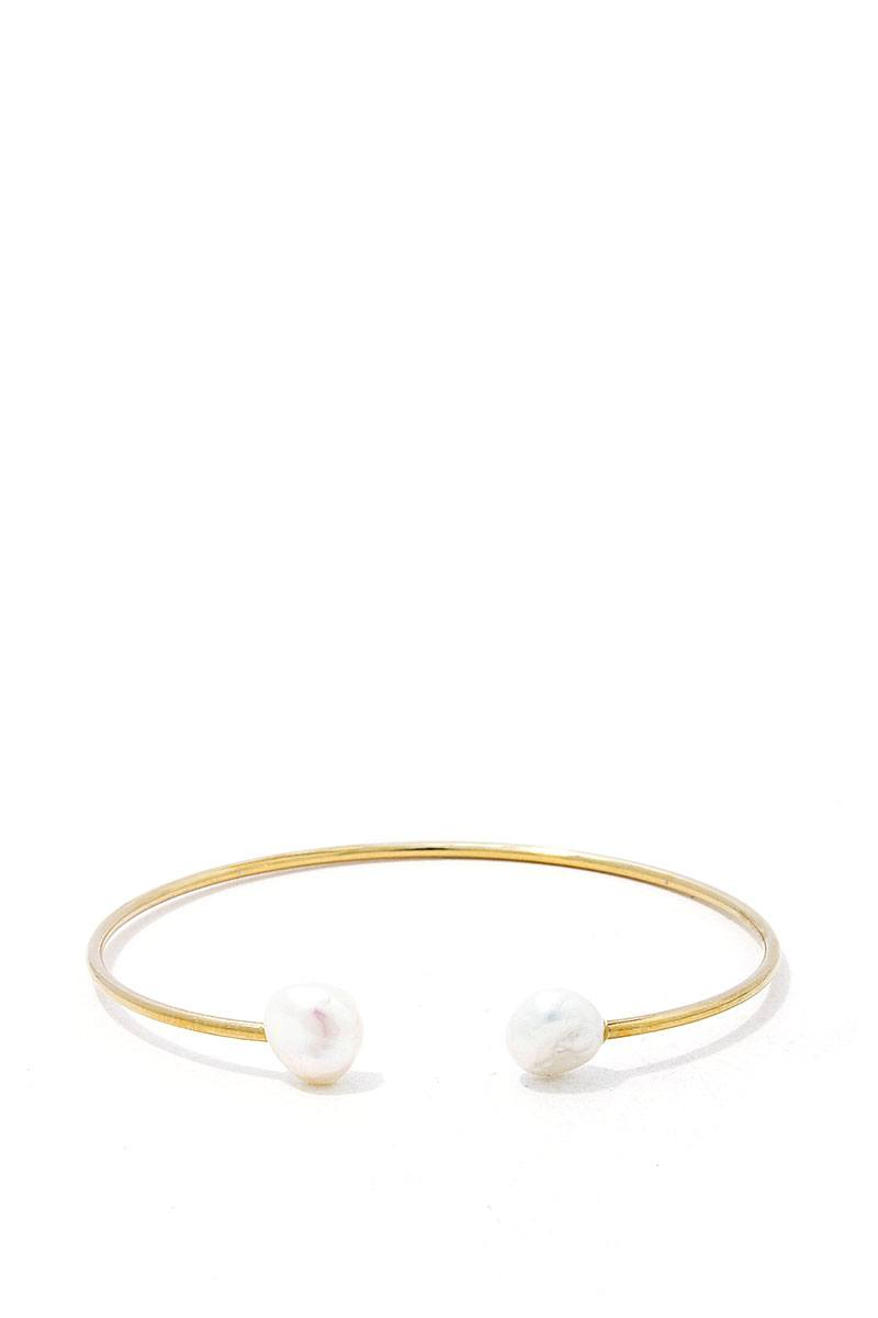 Pearl Ended Cuff Bracelet