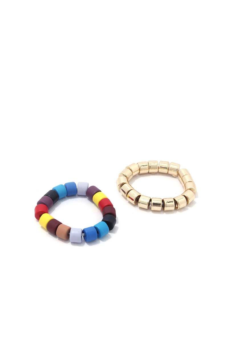 Multi Color Stretch Ring Set