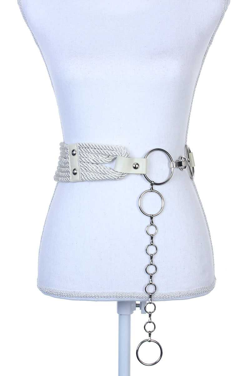Rope Metal Ring Belt