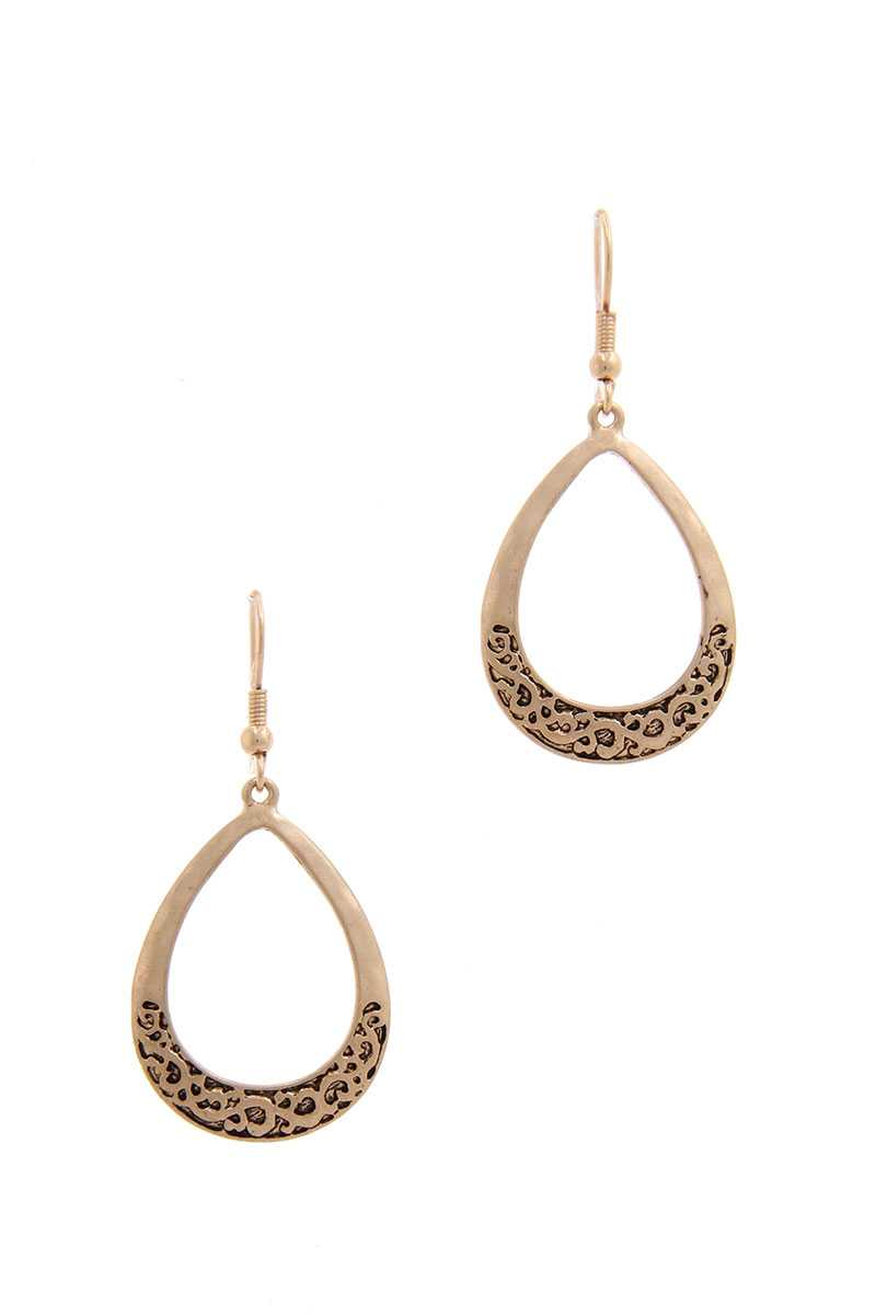 Two Tone Teardrop Shape Earring