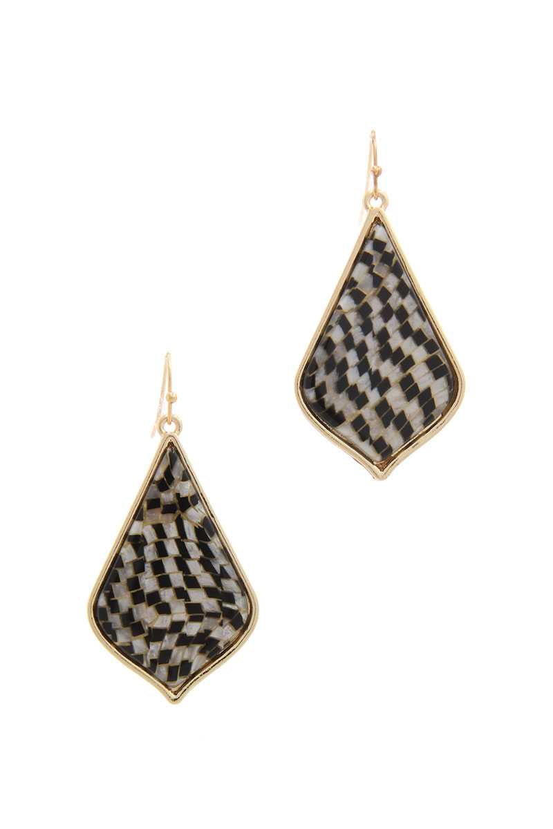 Pattern Drop Earring