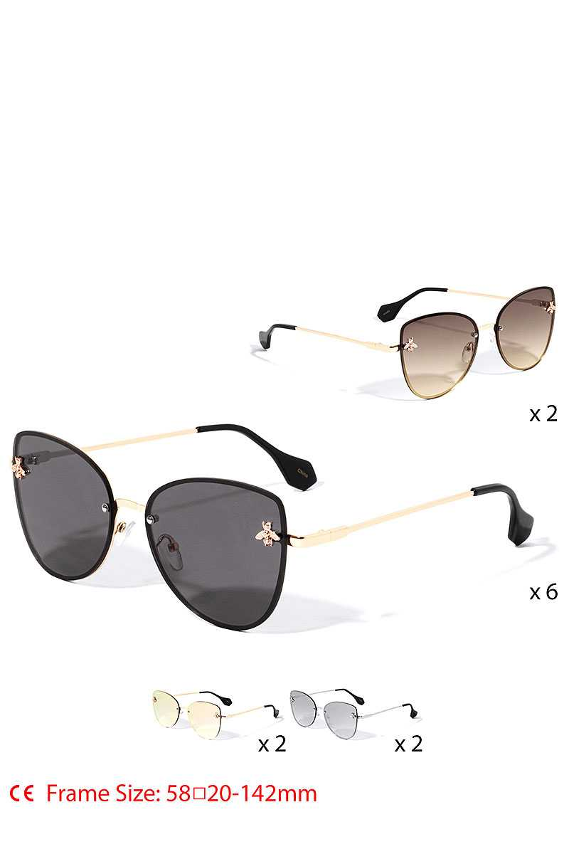 Stylish Bee Accented Aviator Sunglasses