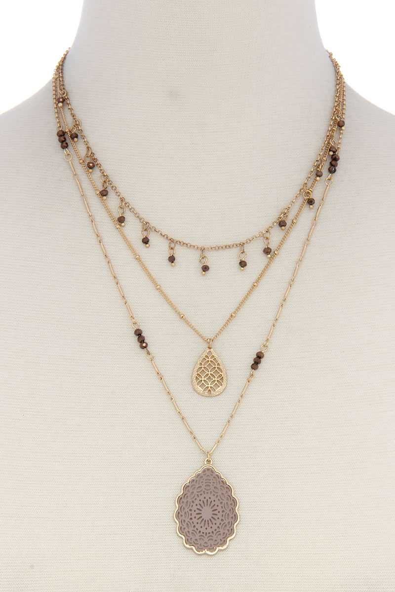Three Layer Fashion Necklace