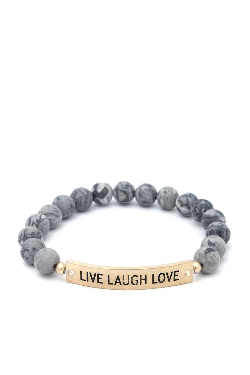 Live Laugh Love Beaded Bracelet
