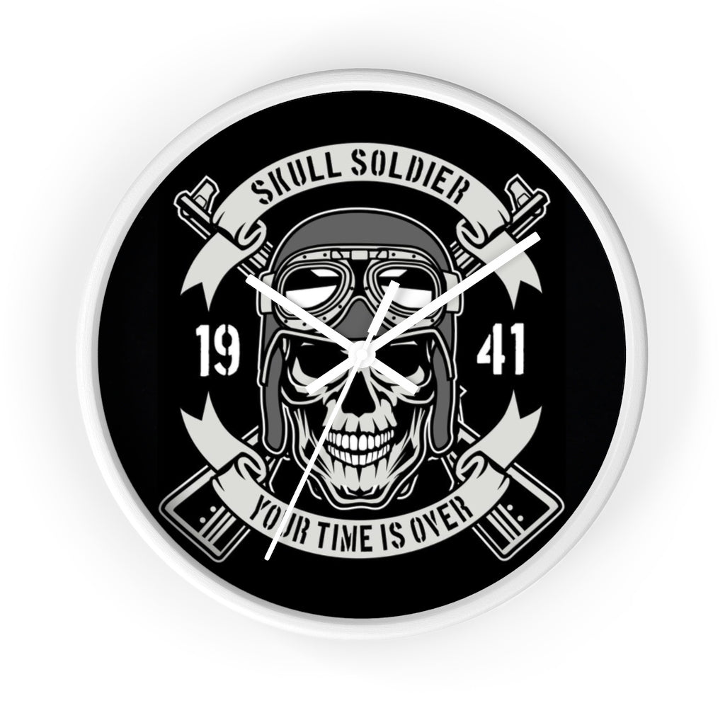 Skull soldier - Time is over - Wall clock