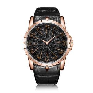 ONOLA brand unique quartz watch man luxury rose gold leather cool gift for man watch fashion casual waterproof Relogio Masculino - Tarola