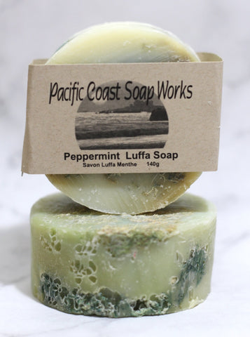 Peppermint luffa soap bar 140g