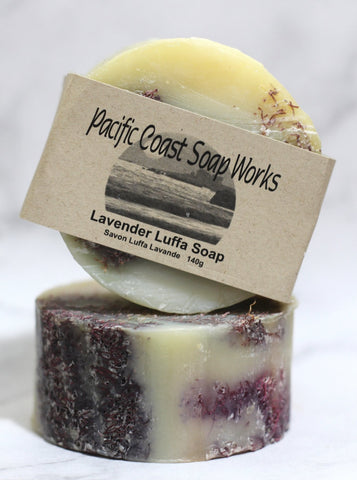 Lavender luffa soap bar 140g