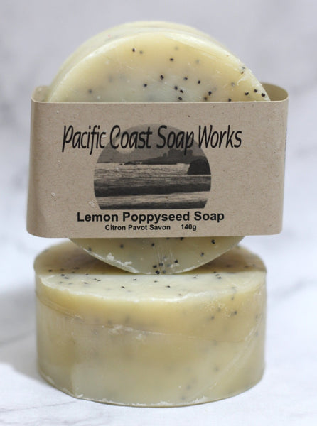 Lemon poppyseed soap bar 140g