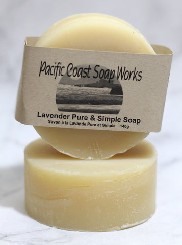 Lavender pure and simple soap bar 140g