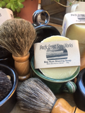 Bay Rum Shaving Soap with shaving brush