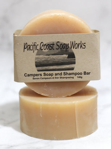 Camper's soap and shampoo bar 140g