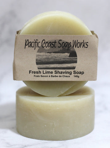 Fresh lime shaving soap bar 140g