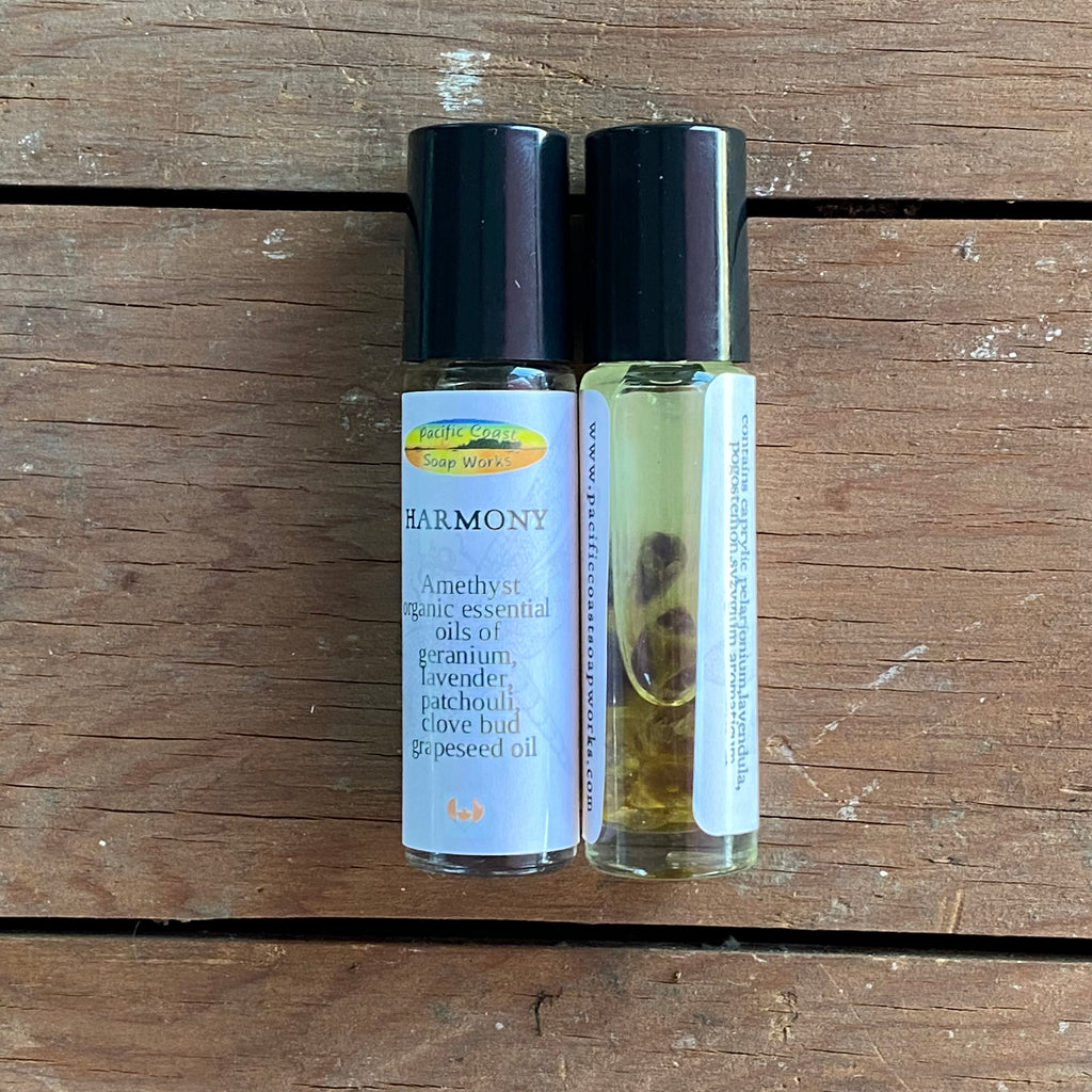 HARMONY essential oil rollerball tube with amethyst