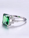 Nano Russian Emerald 925 Sterling Silver Ring