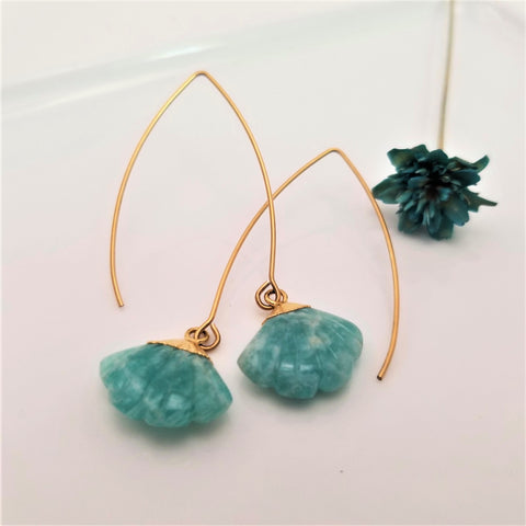 Amazonite Flare Dangling Earrings