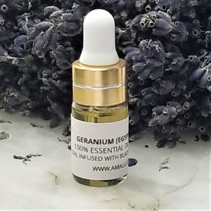 GERANIUM - 100% PURE CRYSTAL INFUSEDESSENTIAL OIL