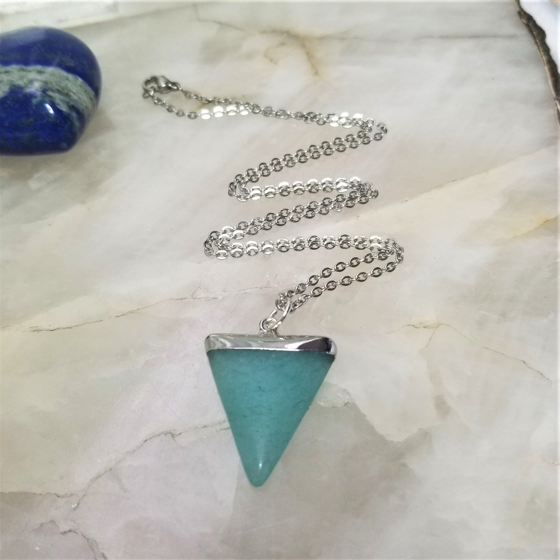AMAZONITE TRIANGLE - SILVER