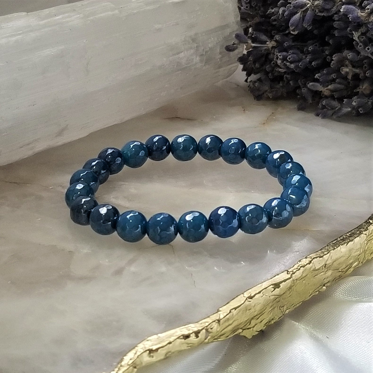 Blue Agate - Mystic Coated
