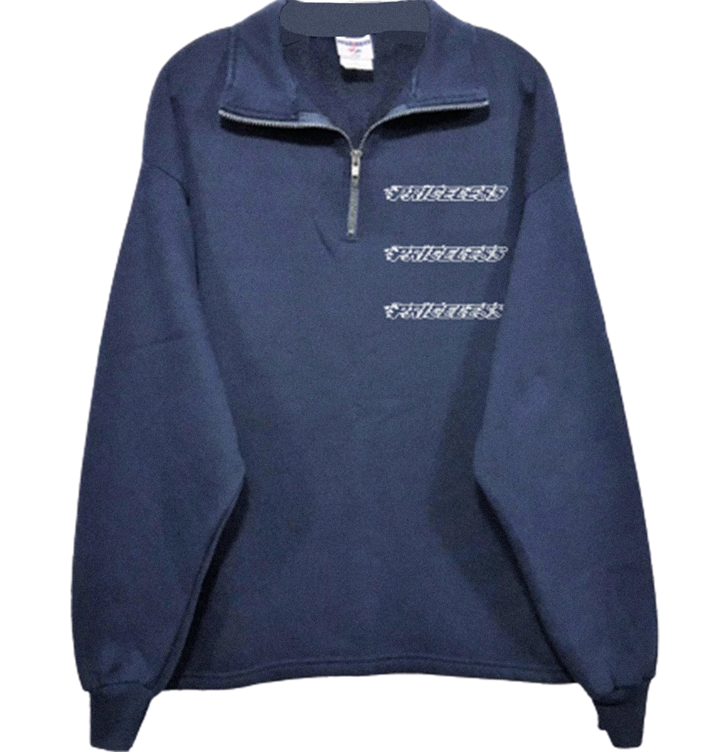 Flame Half Zip - Navy Blue