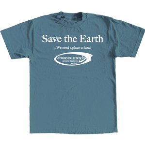 Save The Earth Tee - Blue