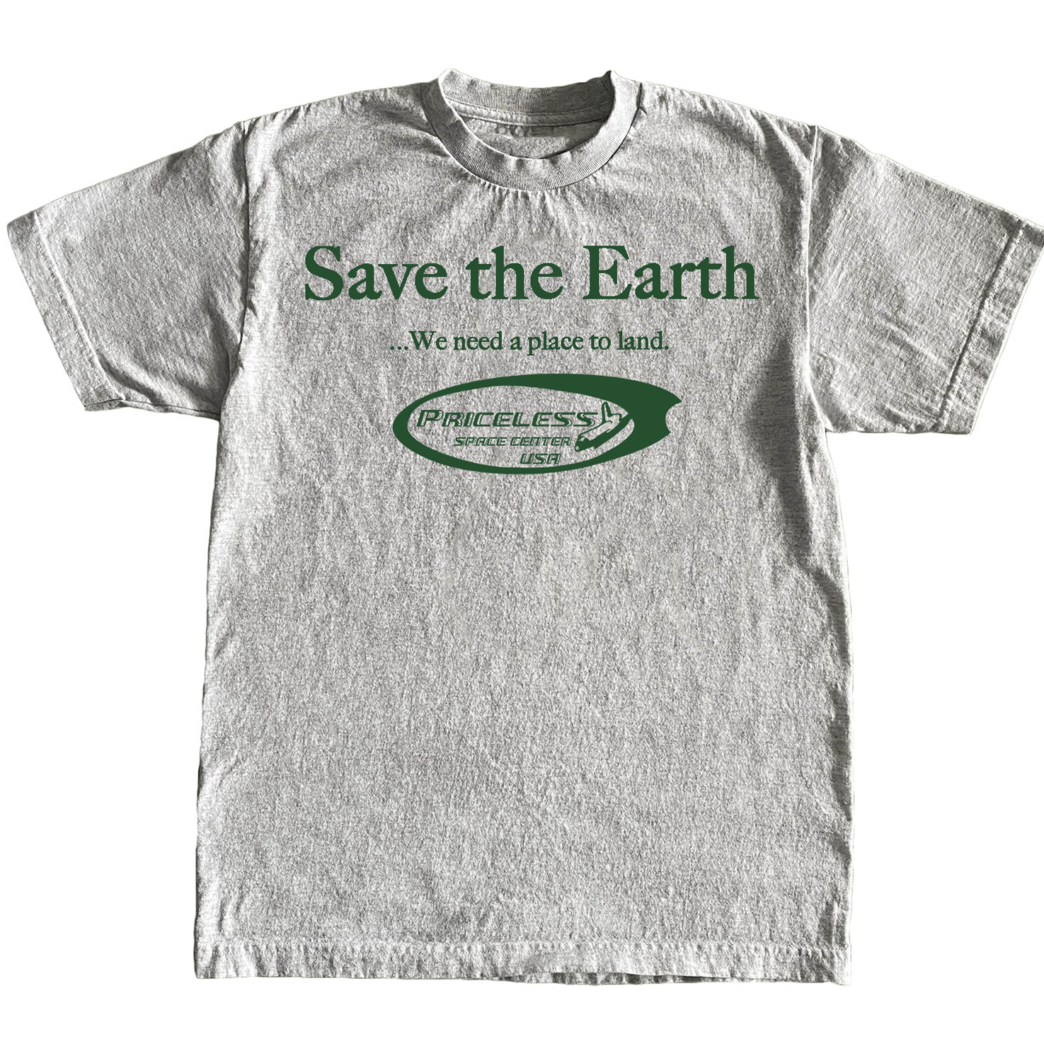 Save The Earth T-shirt - Grey
