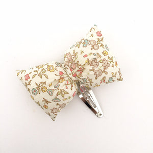 Puffy bow Hair Slide, Sweet meadow