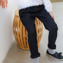 Winter Furry Comfort-Fit Corduroy Trousers (Black)
