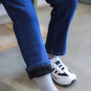 Amazing Fleece-lined Winter Slim Jeans (Medium Blue)