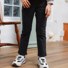 Amazing Fleece-lined Slim-fit Trousers (Black)