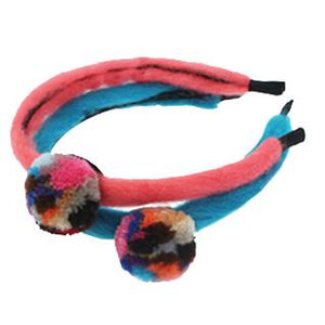 Loopy Mango headband with pom pom - Pink