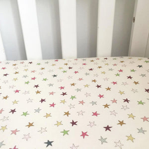 Crib fitted sheet - super star