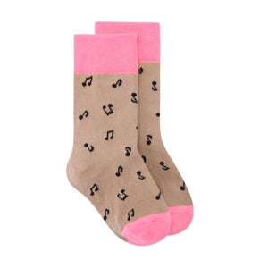 Musical Note Socks - Pink