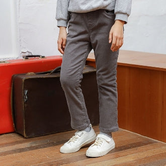 Amazing Fleece-lined Slim-fit Trousers (Grey)
