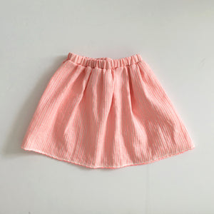 Neon Pink Stripe Skirt