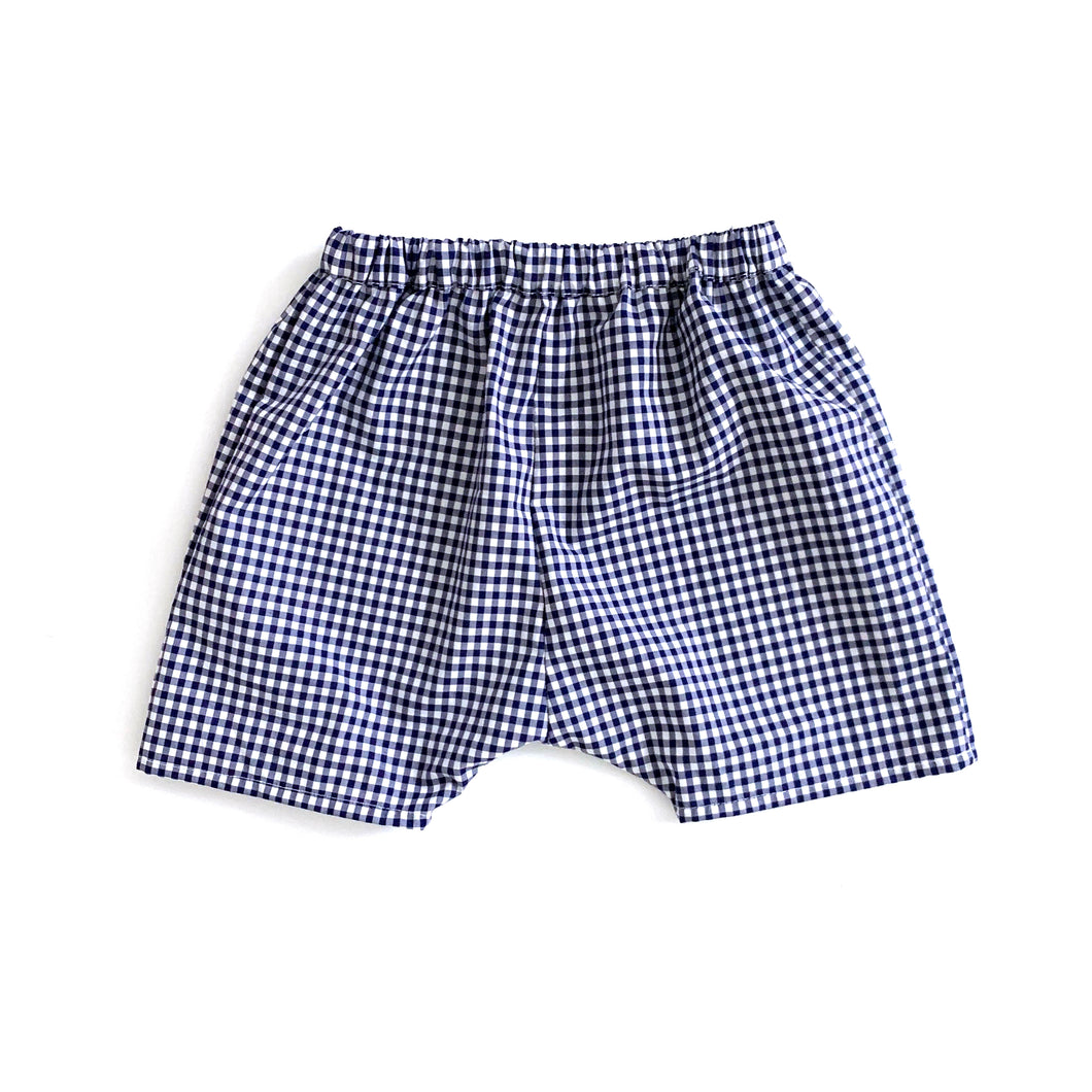 Club Shorts in sapphire gingham