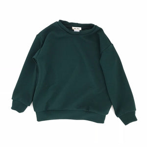Pique Knit Pullover, winter green
